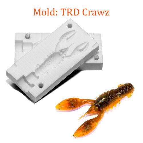 "Mold TRD Crawz Craw Soft Plastic Fishing Lure Bait Making 2.5/"""