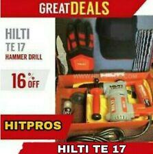 Hilti Te 17 Great Condition Free Bits Hilti Gloves Extras Fast Ship