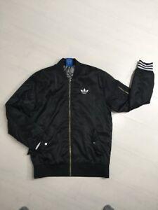 detailing 0bf2f b7c49 Details zu Adidas Bomberjacke Schwarz Weiß S