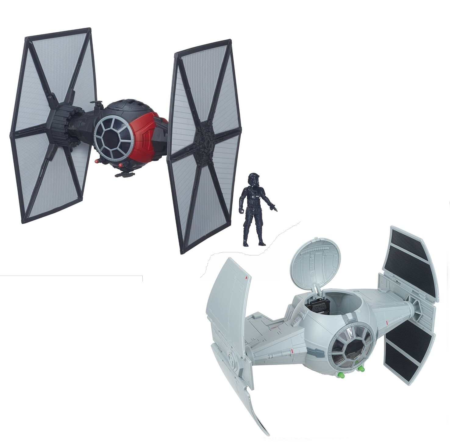 STAR WARS Rebels & Force Awakens TIE FIGHTER toy vehicle Bundle for 4