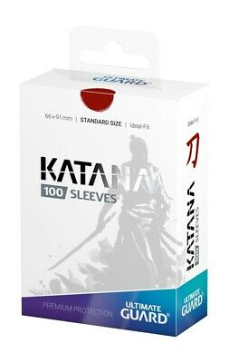 Sold Out Everywhere. New Ultimate Guard Katana Sleeves BLACK 100 count