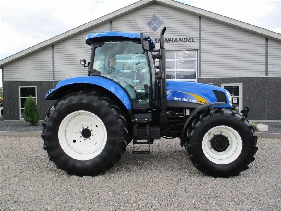 New Holland, T6080 Med frontlift på., timer 5797