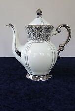 MITTERTEICH COFFEE TEA POT & LID PLATINUM LINE TRIM BAVARIA GERMANY MIT87 SILVER