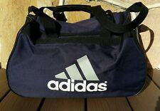 4f3237e456 Adidas Gym Bag Shoulder Tote Small Duffle Sports Navy Blue Overnight Carry  On