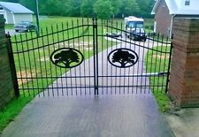 Single Swing Steel Driveway Gate 12ft Wide. Fence, Handrails, Fencing Bed