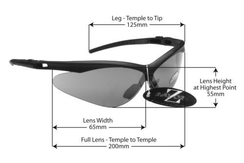 b1 RayZor Uv400 Black Framed Smoked Mirrored Lens Cycling Sunglasses RRP£49