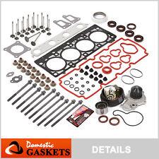 02-05 Dodge 2.0L Head Gasket Bolt Set Timing Belt Water Pump Kit+Engine Valves