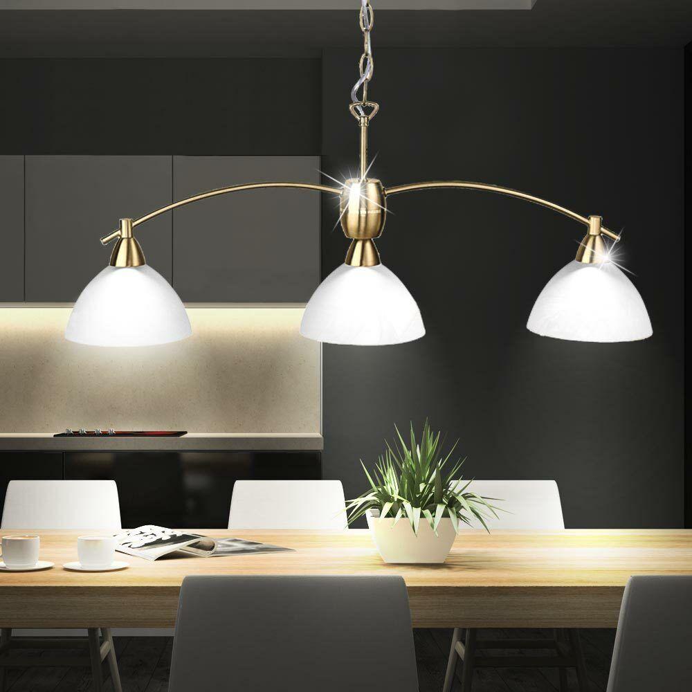 LED 9 Watt Hanging Lamp Dining Room Table Ceiling Pendant Lighting Brass matt