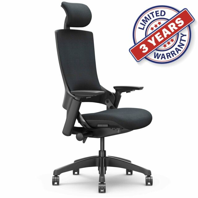 Surprising Ergonomic High Swivel Executive Chair With Adjustable Height Head For Office Bk Theyellowbook Wood Chair Design Ideas Theyellowbookinfo