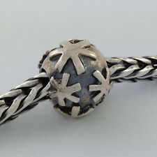 Authentic Trollbeads 925 Silver Snow Bead Charm, 11248, New