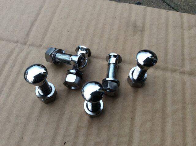 MGB Bumper bolts , mgc , mga Morris minor etc 3/8 unf chr set 6 ROW8-0