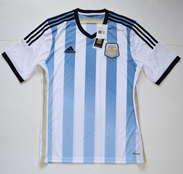 57bd3f767e3 adidas Argentina 2014 Home Soccer Jersey L G74569 for sale online | eBay