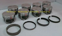 Speed Pro/trw Pontiac 400 Forged Coated Skirt Flat Top Pistons + Rings Kit +20