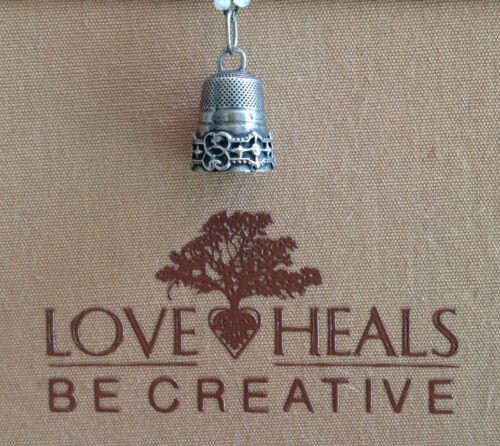 Love Heals Be Creative Thimble Large Charm NEW retails $38.00