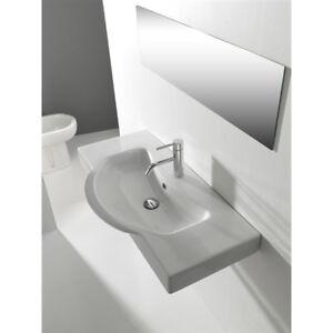 Consolle Bagno In Ceramica.Lavandino Lavabo Consolle Bagno Modello Brenta In Ceramica Bianco