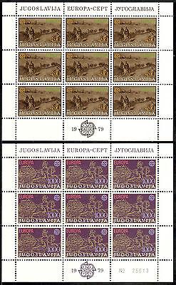 Kann Wiederholt Umgeformt Werden. Jugoslawien Kleinbogen Michelnummer 1787-1788 Postfrisch klbg 1458