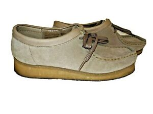 Clarks-ORIGINALS-WALLABEE-Shoes-Size-8M-Tan-Brown-Suede-Leather-Chukka