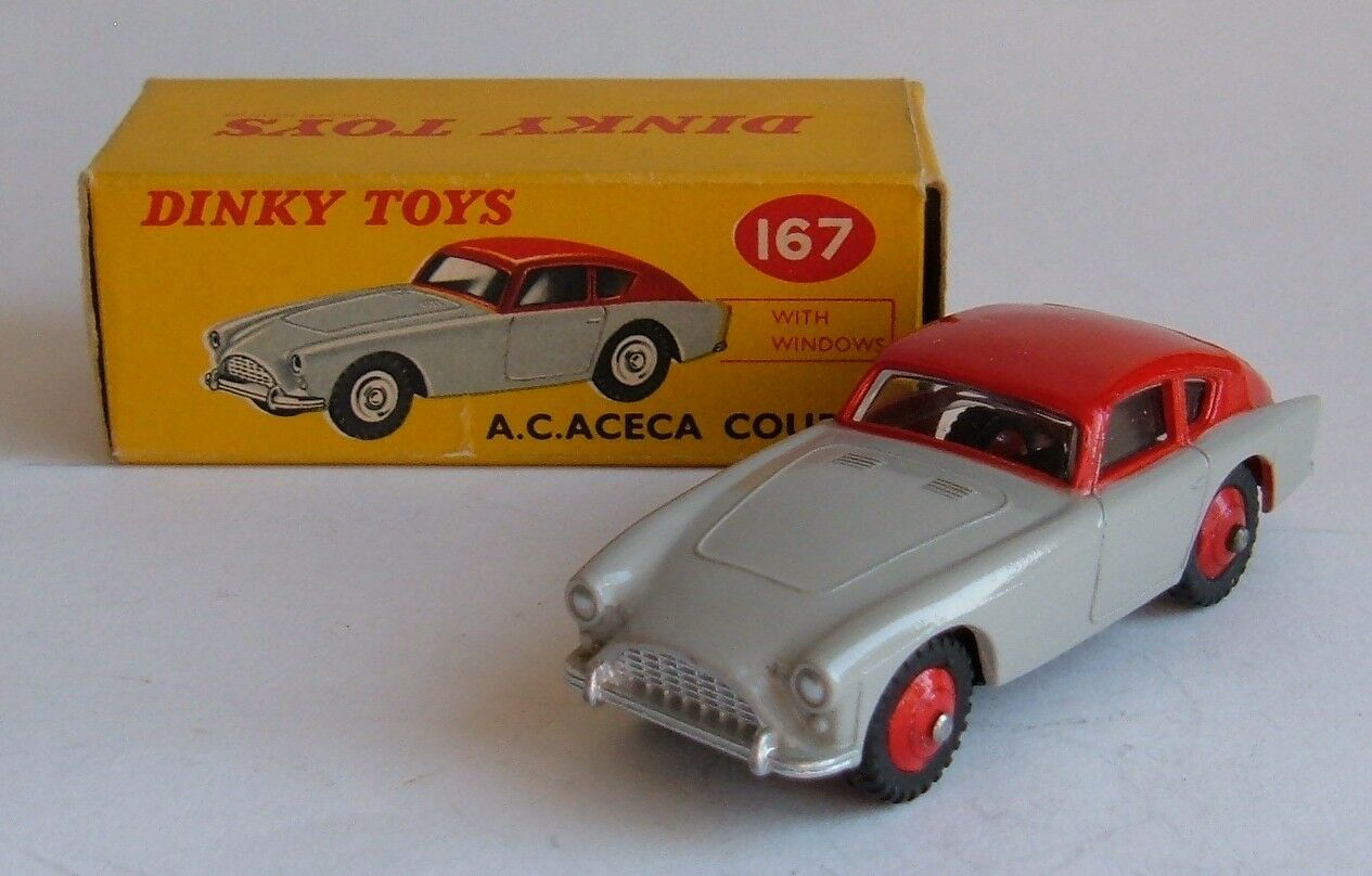 DINKY TOYS No 167, AC ACECA Coupé, -- SUPERBE Very Near Comme neuf.