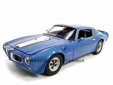 1972 PONTIAC FIREBIRD TRANS AM BLUE 1/18 DIECAST MODEL CAR BY WELLY 12566