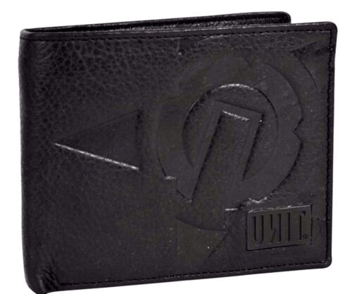 $45 UNIT RIDERS MOTO STROKE WALLET BIFOLD BLACK LEATHER coin zip pocket IN BOX