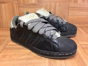 best website 88e0b 294aa Details about VNTG🔥 Adidas Superstar II Quilt Black Leather Olive Gray  Gold Sz 9.5 RARE Sk8r