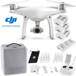 DJI Phantom 4 Quadcopter w/ 2 Extra Batteries (Total 3...