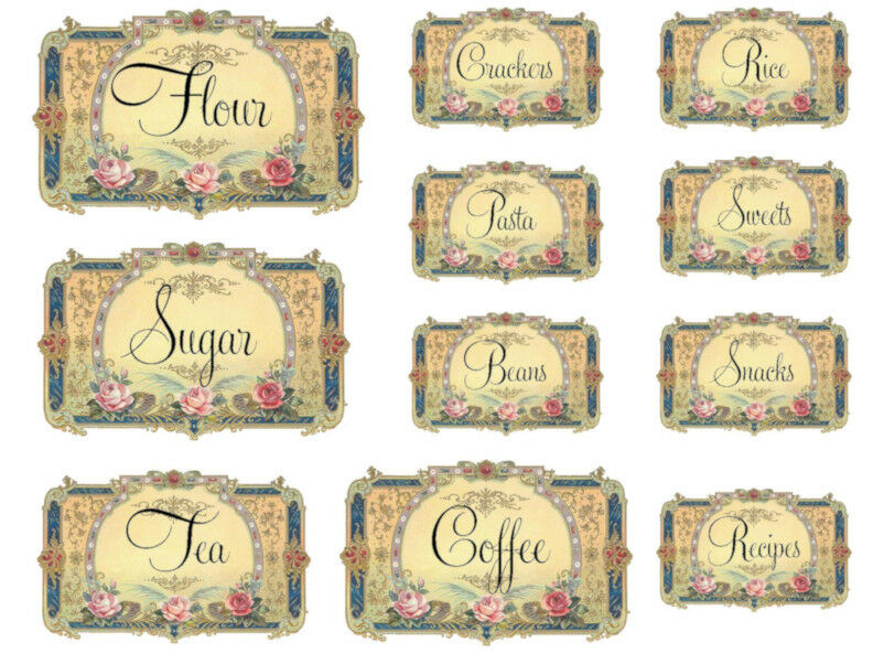 CHeRrY CaNisTeR LaBeLs ShaBby WaTerSLiDe DeCALs