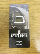 19/01/2008 Ticket: Fulham v Arsenal [George Cohen Lounge Pass] (Not Dated). Than