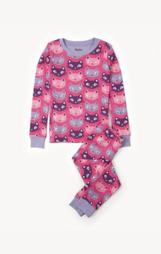 BNWT Hatley Girls Silly Kitties All Over Print Pyjamas Kittens Cat Cats Pink Fun