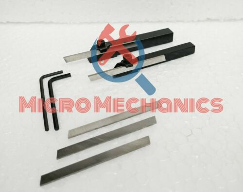 COMBO OF MINI LATHE PARTING CUT OFF TOOL HOLDER 10MM /& 8MM SHANK 5x HSS Blade