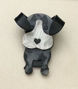 Unique-Large-Dog-Pin-Brooch-In-acrylic