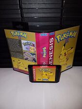 Pokemon II (2) Starring Pikachu Game for Sega Genesis! Cart & Box