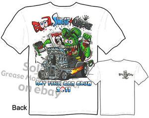 Rat-Fink-T-shirt-Blood-Sweat-amp-Grease-30-31-Ford-Big-Daddy-Tee-Sz-M-L-XL-2XL-3XL