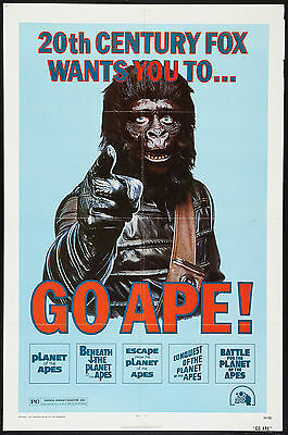 PLANET OF THE APES Movie Poster Rare