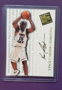 1998 Press Pass Authentics Vince Carter #4 Rookie Gold North Carolina Tarheels