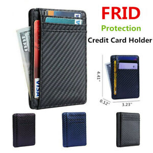 Mens-RFID-Protection-Leather-Wallet-Money-Clip-Credit-Card-Holder-Bag-Pocket