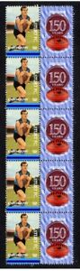 STURT-FC-150th-OF-FOOTBALL-STRIP-OF-10-MINT-VIGNETTE-STAMPS