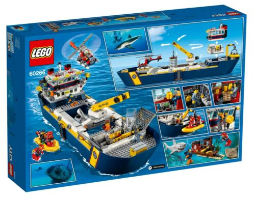 LEGO City 60266 Ocean Exploration Ship Forschungsschiff Beiboot N7//20