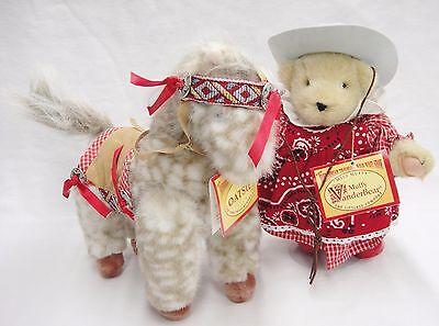 Cowgirl Muffy Vanderbear & Horse Oatsie Traveling Wild West Show Bandana Outfit