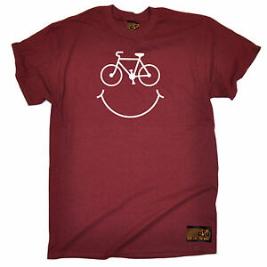 Bike-Smile-Smile-Face-T-SHIRT-tee-cycling-jersey-funny-birthday-gift-present
