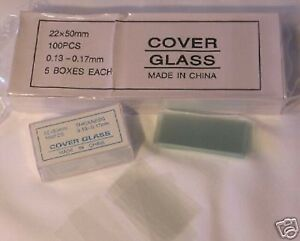 Microscope-Slides-Cover-Glass-Slip-22-50-mm-500-pcs-New