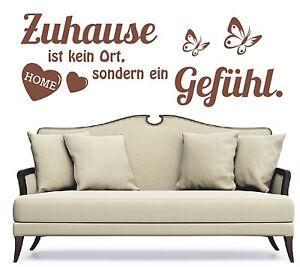 X280-WANDTATTOO-Spruch-Zuhause-kein-Ort-ein-Gefuehl-Wandsticker-Wandaufkleber