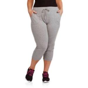 1ca00d32c3a24 Danskin Now Women s Plus Patch Pocket Capri Pants Gray Size 4X 26-28 ...