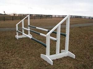 Horse Jumps Triple Bar Standards 5ft - Horse Tack #203