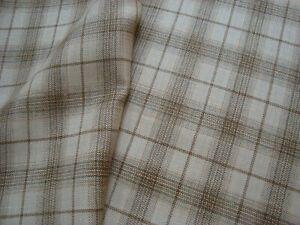 2-36-yd-Holland-Sherry-Fine-WOOL-Linen-Silk-FABRIC-7-5-oz-SUITING-Plaid-85-034-BTP