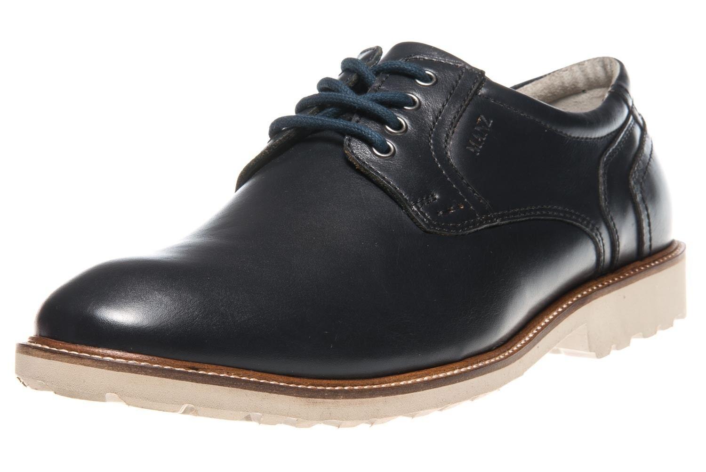 MANZ MANZ MANZ Business Schuhe in Übergrößen Blau 146050-03-047 große Herrenschuhe 31d4bb