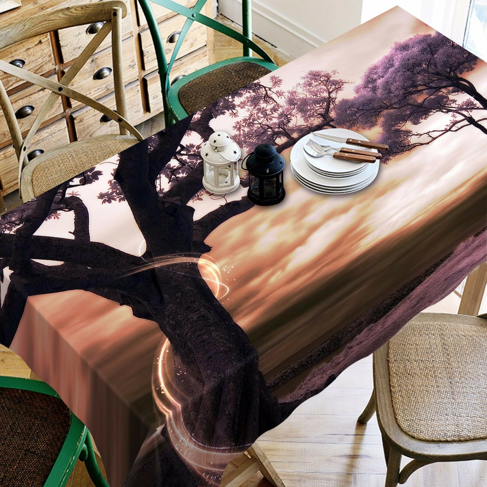 3D Old Tree Tablecloth Table Cover Cloth Birthday Party AJ WALLPAPER UK Lemon