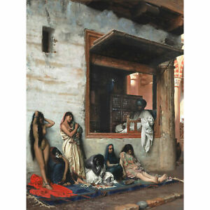 Gerome-Slave-Market-Women-Painting-Extra-Large-Art-Poster