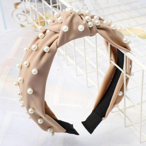 Damen Stirnband Bandana Haarband Elastische Twist Knoten Bogen Haarreif Turban