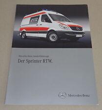 Prospekt / Brochüre / Werbung Mercedes - Benz Sprinter RTW St.03/2009